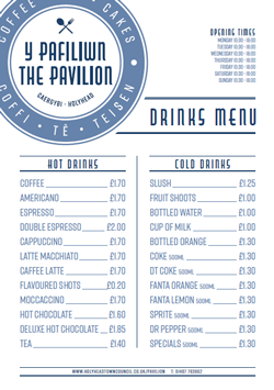 drinks menu 250