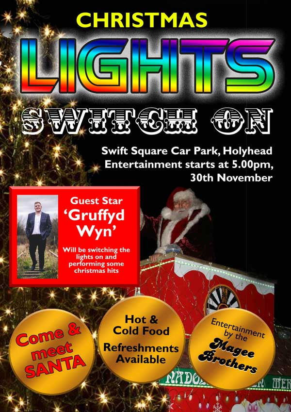 holyhead lights switch on 600